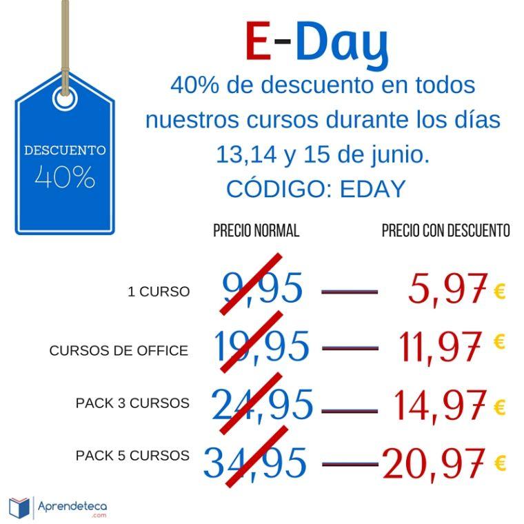 foto #1 de entrada del blog: E-Day: 40% de descuento en nuestros cursos