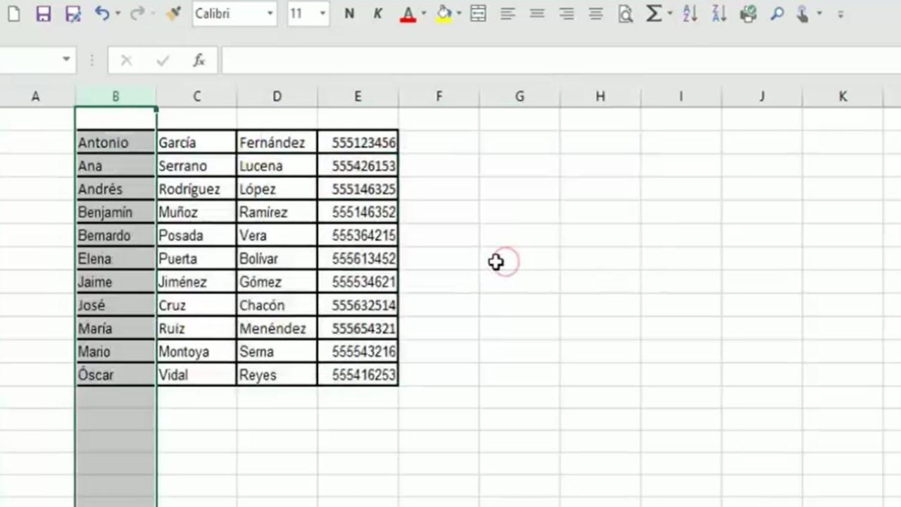 De Word a Excel