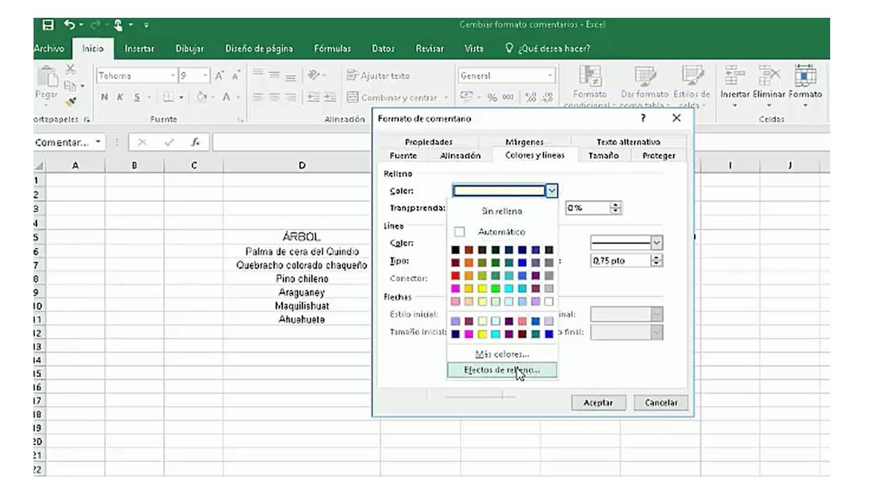 Insertar imagen en comentarios Excel